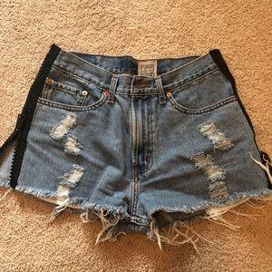 Lf zipper high waisted shorts